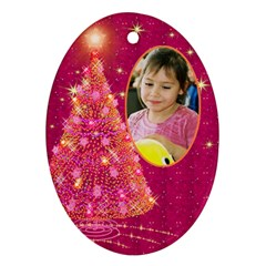 My Gold Christmas Tree Ornament (2 Sided) By Deborah   Oval Ornament (two Sides)   Mukkr3v5kwz5   Www Artscow Com Front