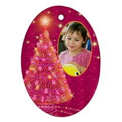 My Gold Christmas Tree Ornament (2 Sided) By Deborah   Oval Ornament (two Sides)   Mukkr3v5kwz5   Www Artscow Com Back
