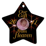 black star Gift from Heaven - Ornament (Star)