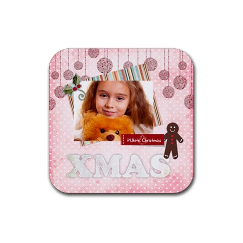 Christmas By Joely   Rubber Coaster (square)   Hxmgivrwbeco   Www Artscow Com Front