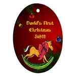 Baby s First Christmas - Ornament (Oval)