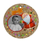 Jolly Santa Double Sided Round Ornament - Round Ornament (Two Sides)