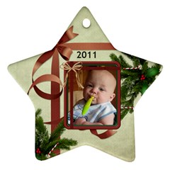 My Christmas Star Ornament (2 Sides) By Lil    Star Ornament (two Sides)   K5bq4qdyzuvc   Www Artscow Com Front