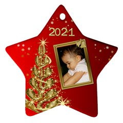 2017 Red Star Ornament (2 Sided) By Deborah   Star Ornament (two Sides)   7c0k4etxyvna   Www Artscow Com Front