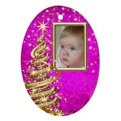 My Little Pink Princess Ornament (2 Sided) By Deborah   Oval Ornament (two Sides)   V1gzekt28cdh   Www Artscow Com Back