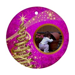 My Little Pink Princess Round Ornament (2 Sided) By Deborah   Round Ornament (two Sides)   254rdqs5jjxi   Www Artscow Com Front