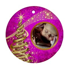 My Little Pink Princess Round Ornament (2 Sided) By Deborah   Round Ornament (two Sides)   254rdqs5jjxi   Www Artscow Com Back