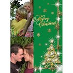 Gold Tree Christmas Card 5x7 - Greeting Card 5  x 7