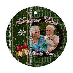 Xmas By Joely   Round Ornament (two Sides)   Brcohgaq18c0   Www Artscow Com Front