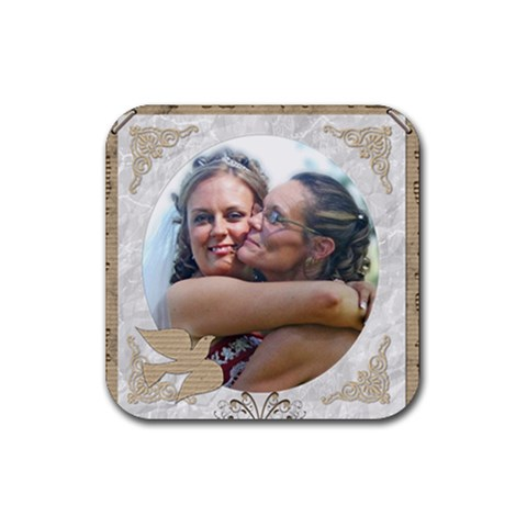 Tristin By Melanie   Rubber Coaster (square)   A3qn1nhi4ftp   Www Artscow Com Front