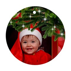 Merry Christmas Round Ornament (2 Sided) By Deborah   Round Ornament (two Sides)   C7kyqvg5xjyh   Www Artscow Com Front