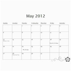 Kim 2011 By Jaime   Wall Calendar 11  X 8 5  (12 Months)   Svu2i0o1n8oq   Www Artscow Com May 2012