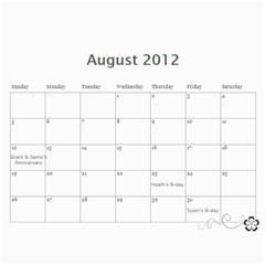 Kim 2011 By Jaime   Wall Calendar 11  X 8 5  (12 Months)   Svu2i0o1n8oq   Www Artscow Com Aug 2012