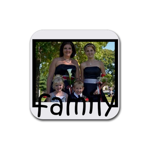 Tristin By Melanie   Rubber Square Coaster (4 Pack)   Peep1w9p0y8k   Www Artscow Com Front