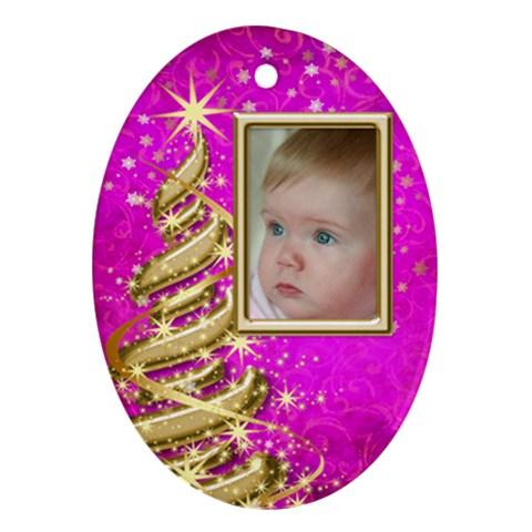 My Little Princess Ornament By Deborah   Ornament (oval)   G5lce60t0rus   Www Artscow Com Front