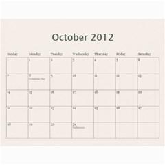 Gift Calendar 2012 By Kristi   Wall Calendar 11  X 8 5  (12 Months)   7blhfibonu1j   Www Artscow Com Oct 2012