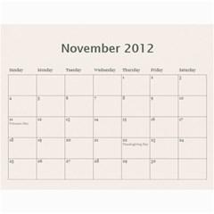 Gift Calendar 2012 By Kristi   Wall Calendar 11  X 8 5  (12 Months)   7blhfibonu1j   Www Artscow Com Nov 2012