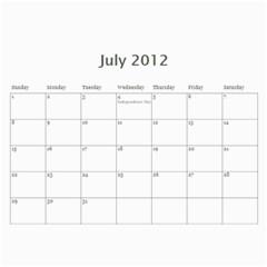 Joanns Xmas By Shana   Wall Calendar 11  X 8 5  (12 Months)   E5uc121gpsyj   Www Artscow Com Jul 2012
