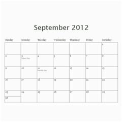 Joanns Xmas By Shana   Wall Calendar 11  X 8 5  (12 Months)   E5uc121gpsyj   Www Artscow Com Sep 2012