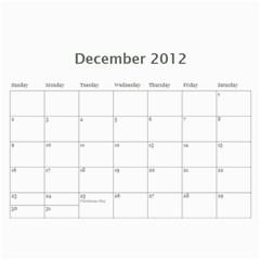 Joanns Xmas By Shana   Wall Calendar 11  X 8 5  (12 Months)   E5uc121gpsyj   Www Artscow Com Dec 2012