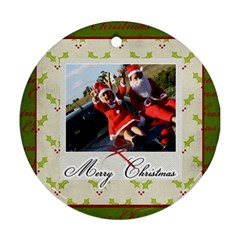 Round Ornament (two Sides) : Merry Christmas By Jennyl   Round Ornament (two Sides)   Wb7v82redx7u   Www Artscow Com Front