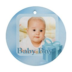 Baby By Wood Johnson   Round Ornament (two Sides)   0be0zcl8skla   Www Artscow Com Back