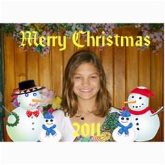 Snowman Family Christmas Card By Kim Blair   5  X 7  Photo Cards   K8mkwosc5ecx   Www Artscow Com 7 x5 Photo Card - 3