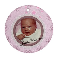 Little Princess Round Ornament (2 Sides) By Lil    Round Ornament (two Sides)   Knx3o5z8l6pl   Www Artscow Com Front