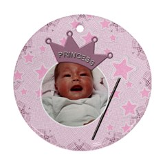 Little Princess Round Ornament (2 Sides) By Lil    Round Ornament (two Sides)   Knx3o5z8l6pl   Www Artscow Com Back
