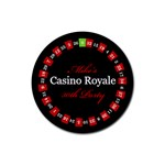 Casino Royal Night - Rubber Coaster (Round)