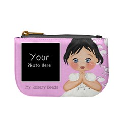 My Rosary Beads Black Hair By Lillyskite   Mini Coin Purse   C69f918w55k5   Www Artscow Com Front