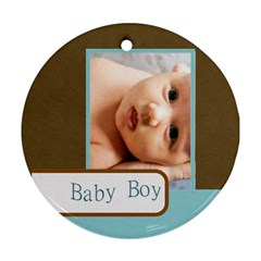 Baby By Wood Johnson   Round Ornament (two Sides)   Ndl1l5370xia   Www Artscow Com Front