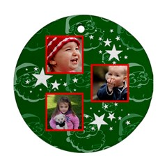 Christmas Collection  By Picklestar Scraps   Round Ornament (two Sides)   Psd1vr969y1b   Www Artscow Com Front