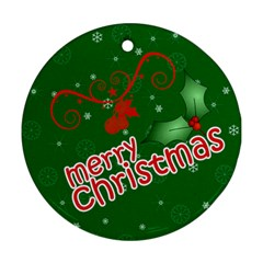 Christmas Collection  By Picklestar Scraps   Round Ornament (two Sides)   Psd1vr969y1b   Www Artscow Com Back