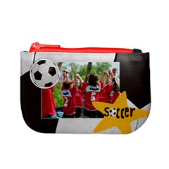 Soccer Mini Coin Purse By Mikki   Mini Coin Purse   6kwostc3o3lp   Www Artscow Com Front
