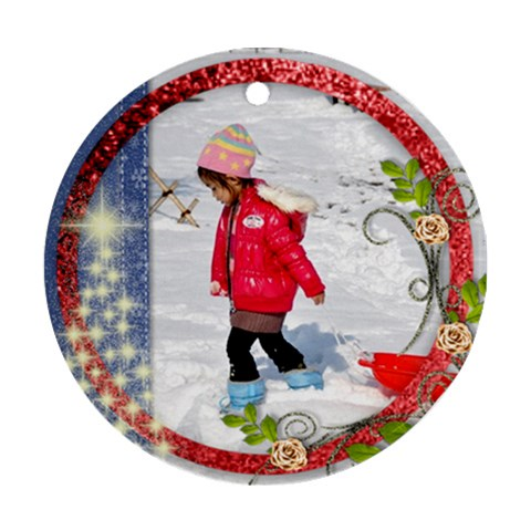 Ornament   Christmas 01 By Angel   Ornament (round)   Lif3l7ui44c6   Www Artscow Com Front
