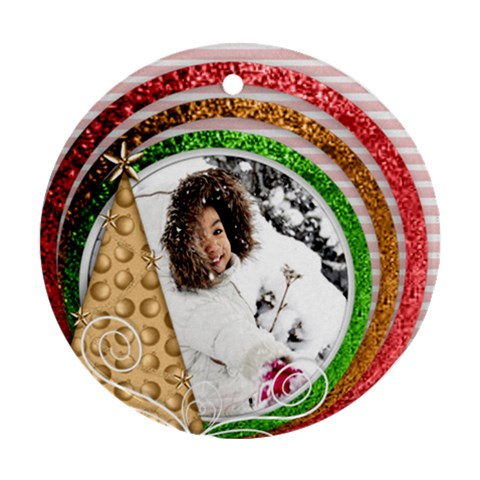 Ornament   Christmas 6 By Angel   Ornament (round)   H9sbvcbsrj20   Www Artscow Com Front