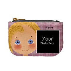 Blonde Girl Purse By Lillyskite   Mini Coin Purse   Siqxqo35l8ny   Www Artscow Com Front