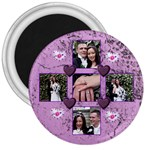Purple Heart 3 inch Magnet - 3  Magnet