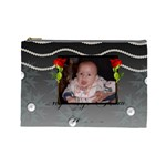 pearls and roses large cosmetic bag - Cosmetic Bag (Large)