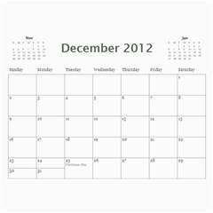 2012 Family Calendar By Tara Farrington   Wall Calendar 11  X 8 5  (12 Months)   Qo6134kb3b0q   Www Artscow Com Dec 2012