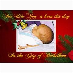 Bethlehem Christmas Photo Card By Kim Blair   5  X 7  Photo Cards   I28hkz3adco7   Www Artscow Com 7 x5 Photo Card - 3