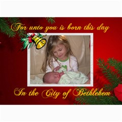 Christmas Card 1 By Jolene   5  X 7  Photo Cards   Otnubhzyvtvo   Www Artscow Com 7 x5 Photo Card - 8