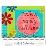 fruitsnackcalendar2012-13 - Wall Calendar 11  x 8.5  (18 Months)