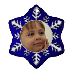Blue And Silver Snowflake Ornament (2 Sided) By Deborah   Snowflake Ornament (two Sides)   T20ceaiwpl0b   Www Artscow Com Front