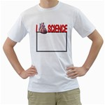 I heart science shirt - Men s T-Shirt (White) (Two Sided)
