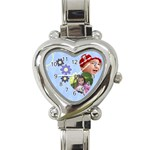 Serenity Blue - Heart Italian Charm Watch