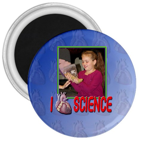 I Love Science Magnet By Patricia W   3  Magnet   T03awd83372z   Www Artscow Com Front