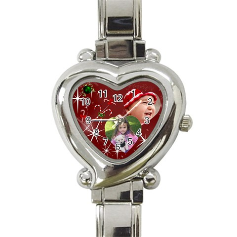 Christmas Collection  By Picklestar Scraps   Heart Italian Charm Watch   H7y93a3pteo3   Www Artscow Com Front
