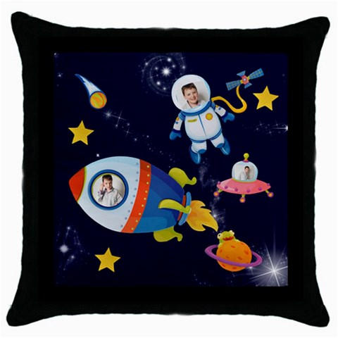 Rocket Man Pillow 1 By Catvinnat   Throw Pillow Case (black)   3pqnvxmtaj0r   Www Artscow Com Front